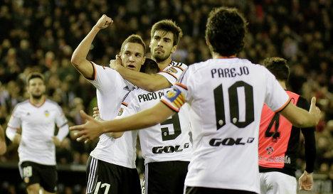 Футболисты 'Валенсии'