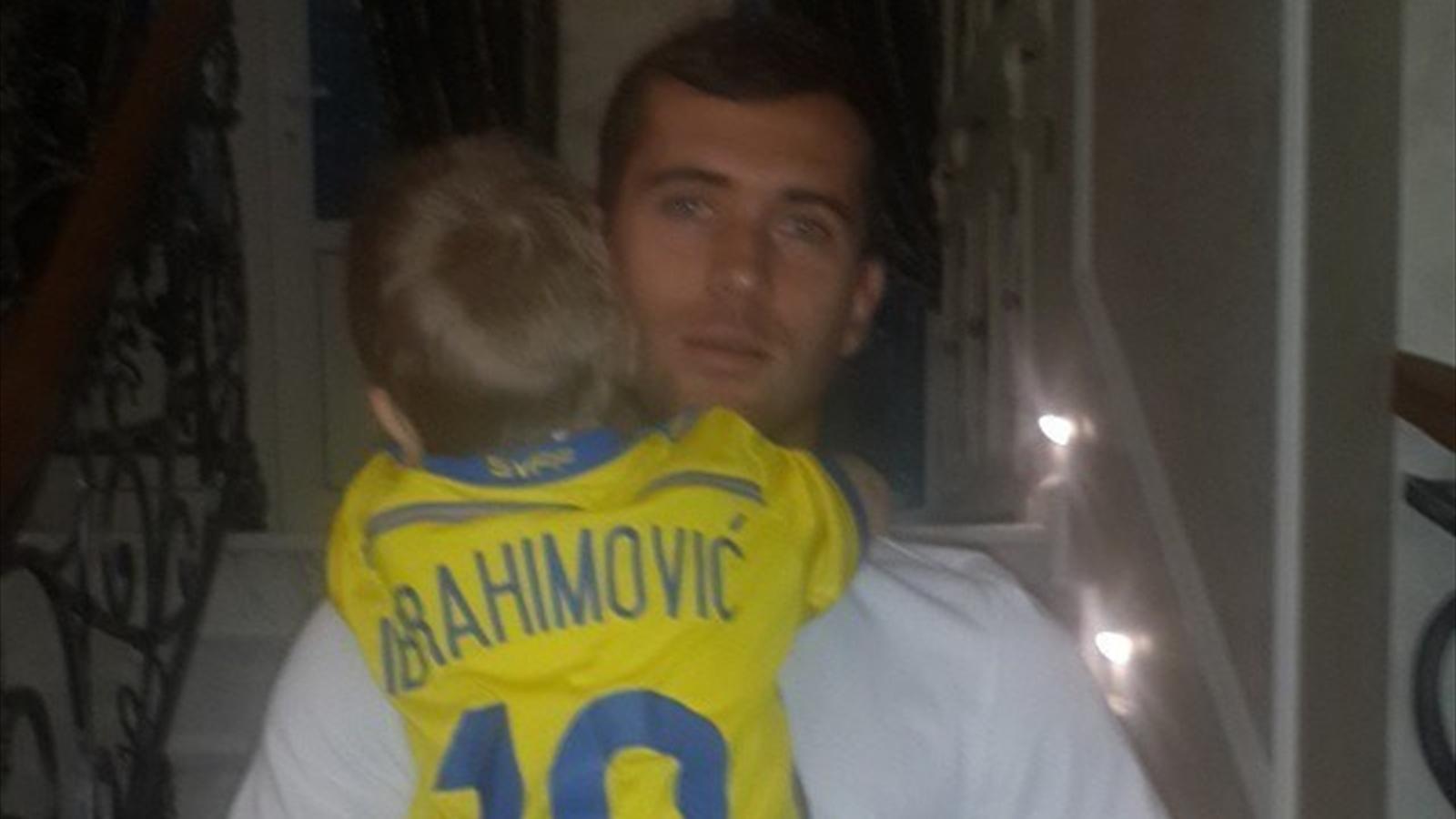 Александр Кержаков и сын