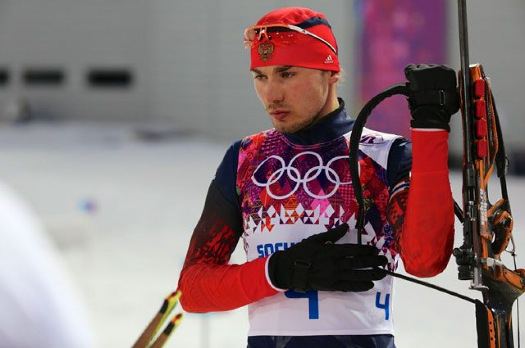 Биатлонист Антон Шипулин.