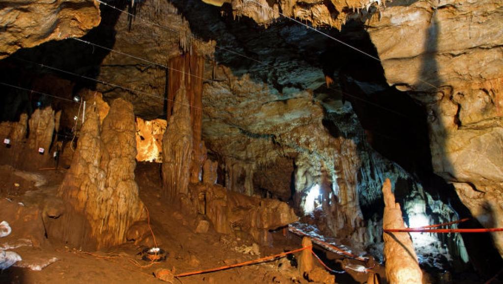 Карстовая известняковая пещера Мано, расположенная на севере Израиля