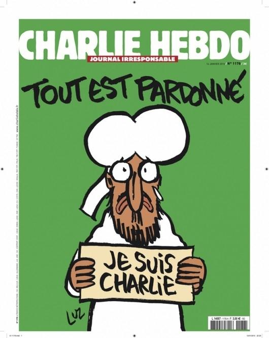 Номер Charlie Hebdo с пророком Мухаммедом на обложке уже в продаже