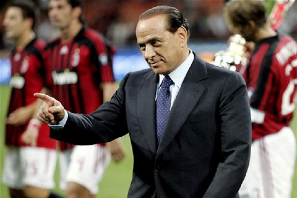 Берлускони мотивировал 'Милан' перед матчем с 'Лацио'