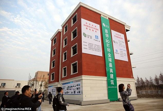 В Китае появились первые 3D-дома