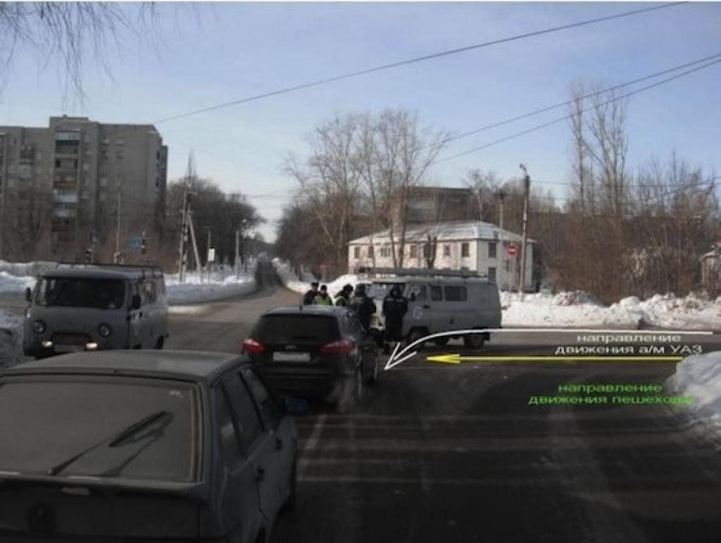 Микроавтобус сбил девушку, Жигулевск, 26 января