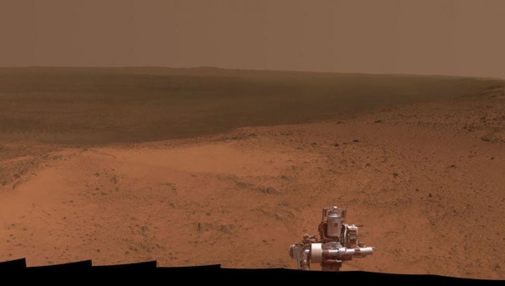 Праздничное панорамное селфи марсохода