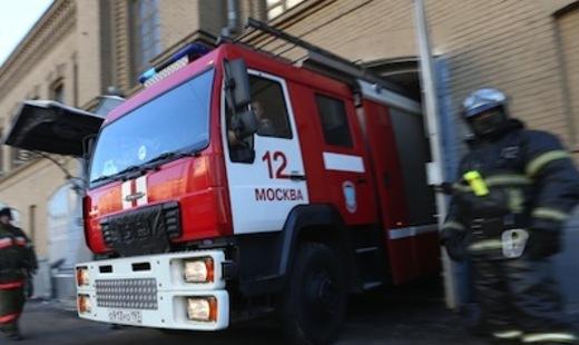 Автобус сгорел на 38 км МКАД