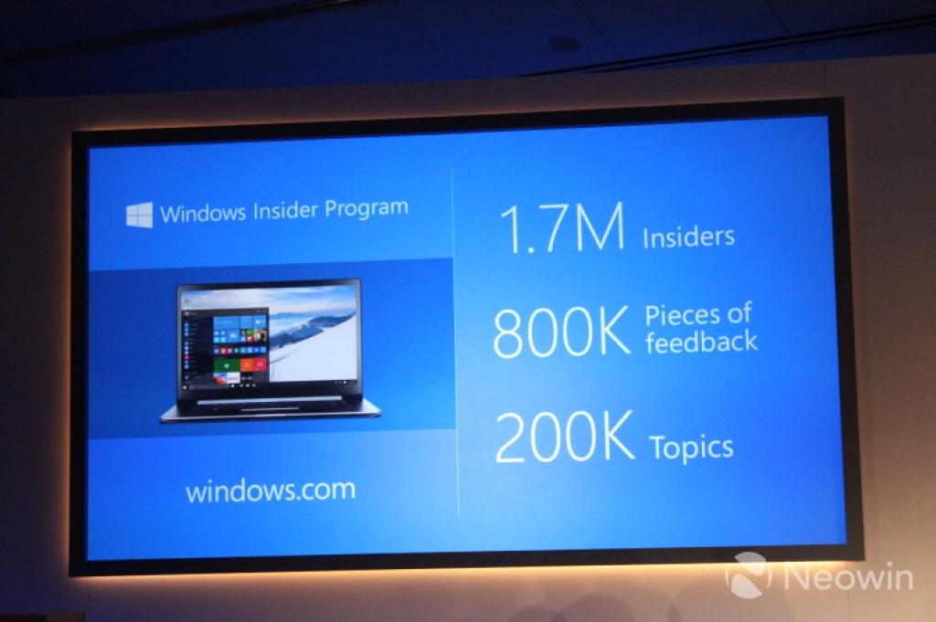 Новая статистика Microsoft Insider Program