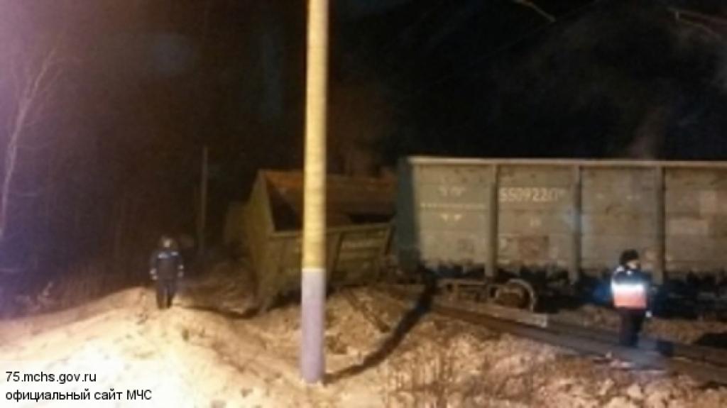 В Омской области на станции Любинская произошел сход с рельсов электровоза и 20 порожних грузовых вагонов