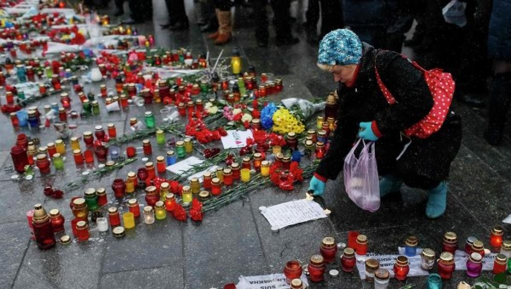 Траурные мероприятия в Мариуполе