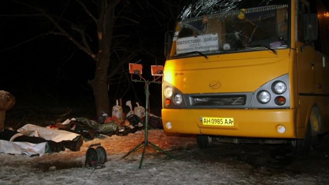 Россия потребует в ОБСЕ расследования обстрела пассажирского автобуса под Волновахой. ДНР,Донецкая область,Украина,автобусы,войны и воор