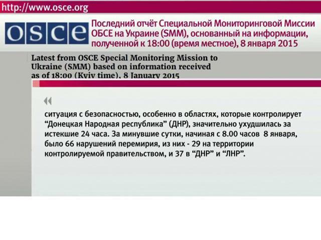 Наблюдатели ОБСЕ сообщают о новых нарушениях режима перемирия на юго-востоке Украины