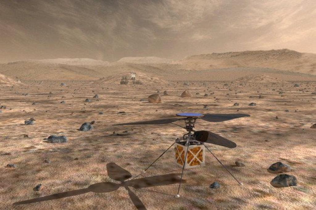 ВНАСА разрабатывают летающих дронов для изучения Марса