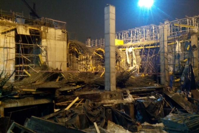 В Петербурге обрушились перекрытия на строительной площадке