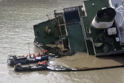 Буксир затонул в китайской реке Янцзы, 20 человек числятся пропавшими без вести